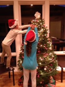 Kids decorating